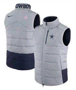 check out 34d3c aeeea Details about Nike Dallas Cowboys NFL Sideline On-Field Vest Gray/Blue  Men's Size Medium