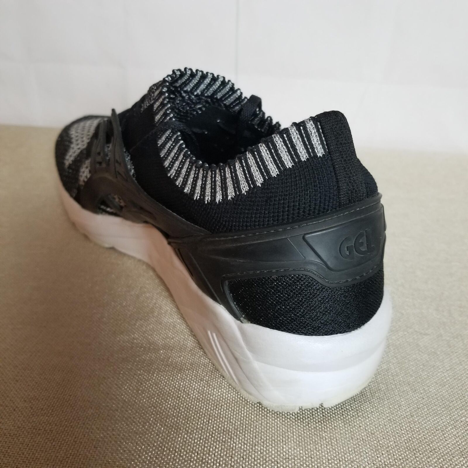 Asics Asics Asics Men's Gel-Kayano Trainers shoes Size 12M Athleti Knit Silver Black 344fed