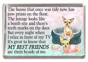 Chihuahua-Dog-Fridge-Magnet-034-MY-BEST-FRIEND-POEM-034-Novelty-Gift-by-Starprint