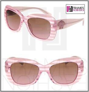 7dea1f9a45c Image is loading VERSACE-Sunglasses-VE4317-Translucent-Rule-Pink -Striped-Glitter-