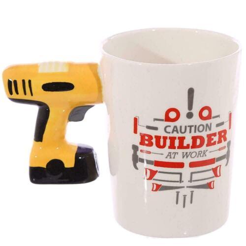 Shaped Handle Ceramic Mug Novelty Tea Coffee Cup Fun Present Gift Box Home Decor