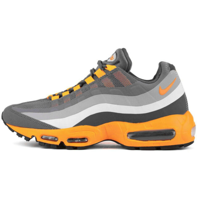 the latest 35cb1 74c45 Nike Air Max 95 No Sew 616190-080 Mens Size 9 Cool Grey Laser Orange Silver  NEW