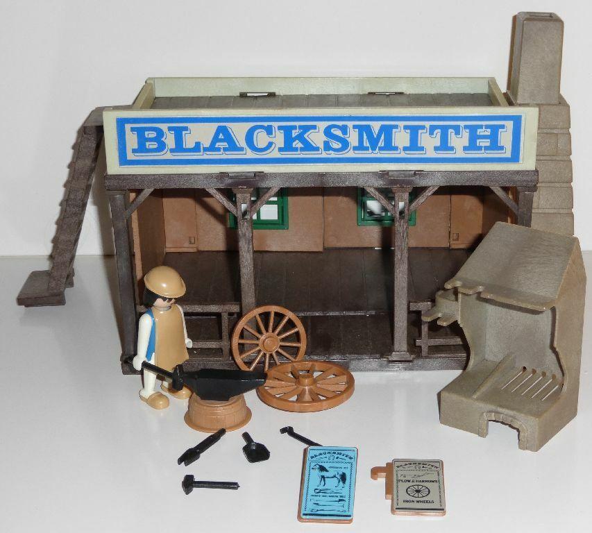 Playmobil 3430 Schmiede 80er Jahre schwarzsmith Western
