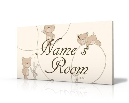 NEW FREE P/&P PERSONALISED DOOR SIGN LITTLE TEDDY BEAR NAME PLAQUE