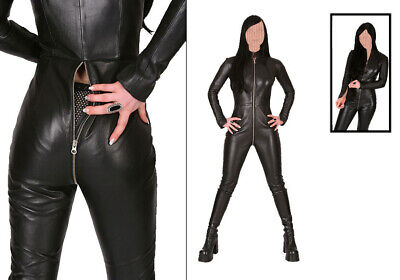 Real Leather catsuit Matrix-coat Long Zipper Robe Chat Costume coquin Robe