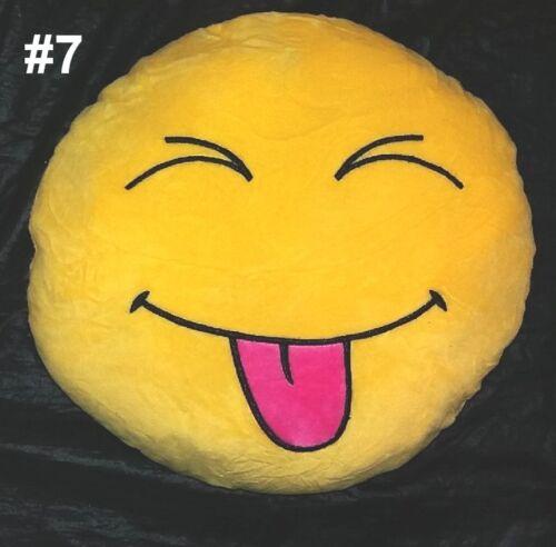 Large Emoji Smiley Deco Pillow Emoticon decorative cushion Love WhatsApp ø30cm//16cm
