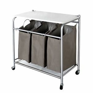 Storagemaniac 3 Lift Off Bags Laundry Sorter Cart With