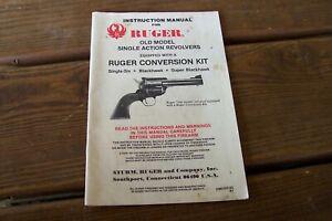 Original Ruger Old Model Single Action Revolver W Conversion Instruction Manual Ebay