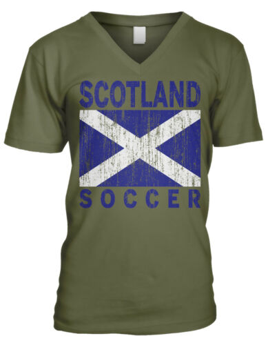 Scotland Soccer Distressed Flag Colors Scottish From Scot Men/'s V-Neck T-Shirt