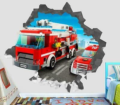 Fire Engine City Fire Children Wall Tattoo Wall Sticker Wall Sticker h0867