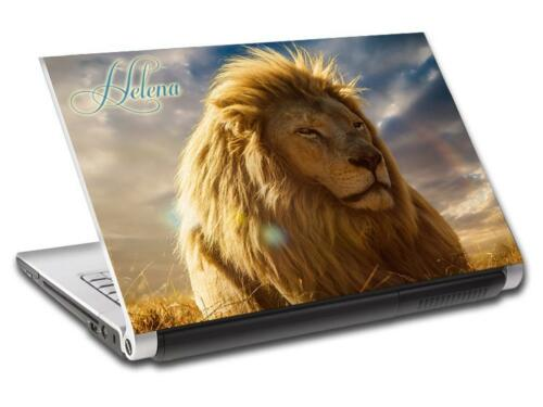 Lion Personalized LAPTOP Skin Vinyl Decal Sticker WITH NAME Animals L212