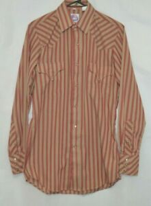 Miller-Western-Wear-Vintage-Pearl-Snap-Striped-Shirt-size-14-1-2-33