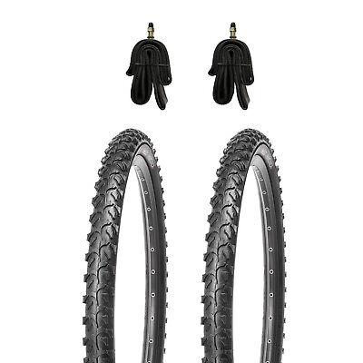 2x Schlauch DV 2x KUJO Mountainbike Reifen Fahrradreifen 24 Zoll  24x1.95 inkl