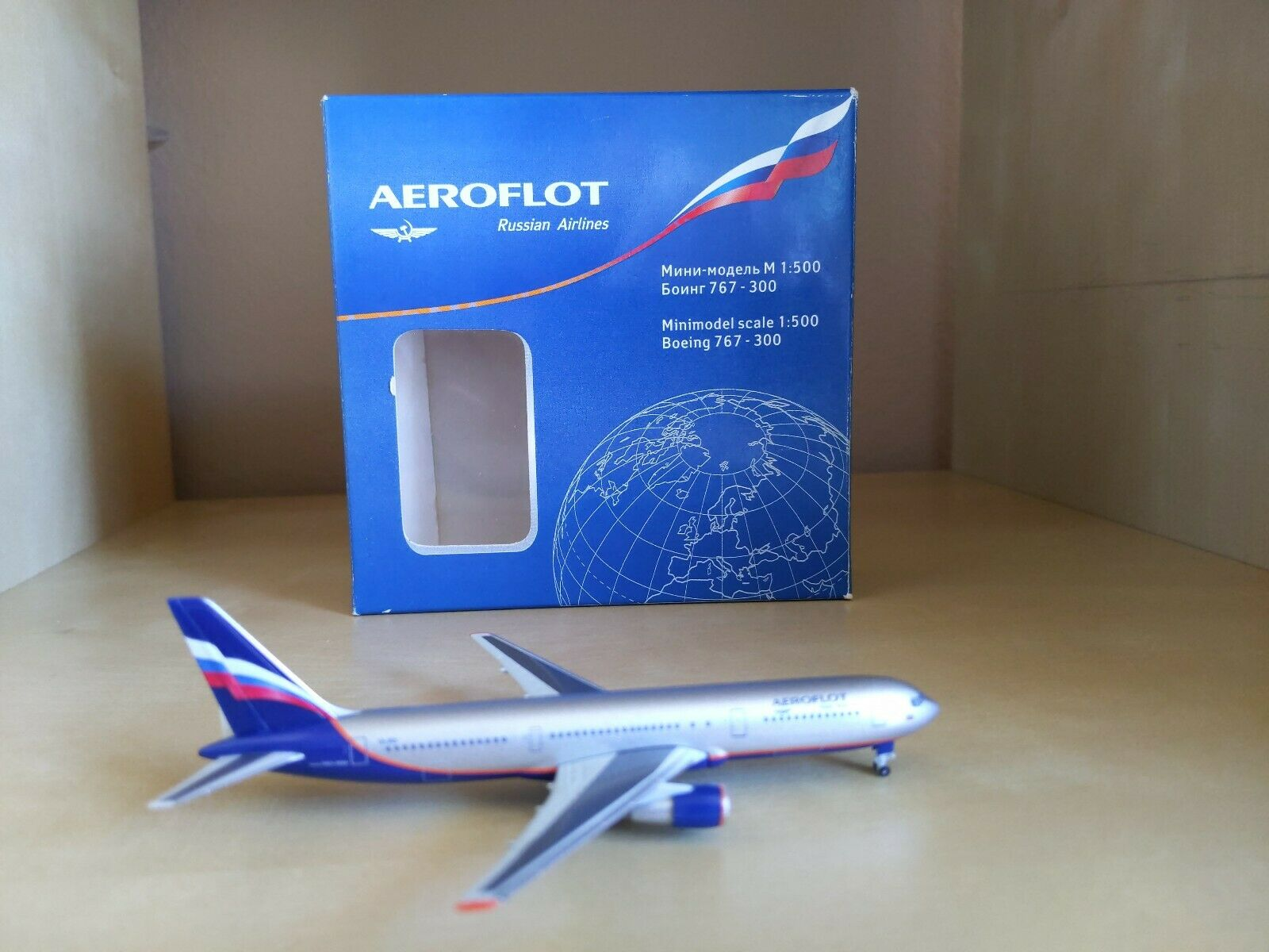 Aeroflot Boeing 767-300 1 500 scale model by herpa
