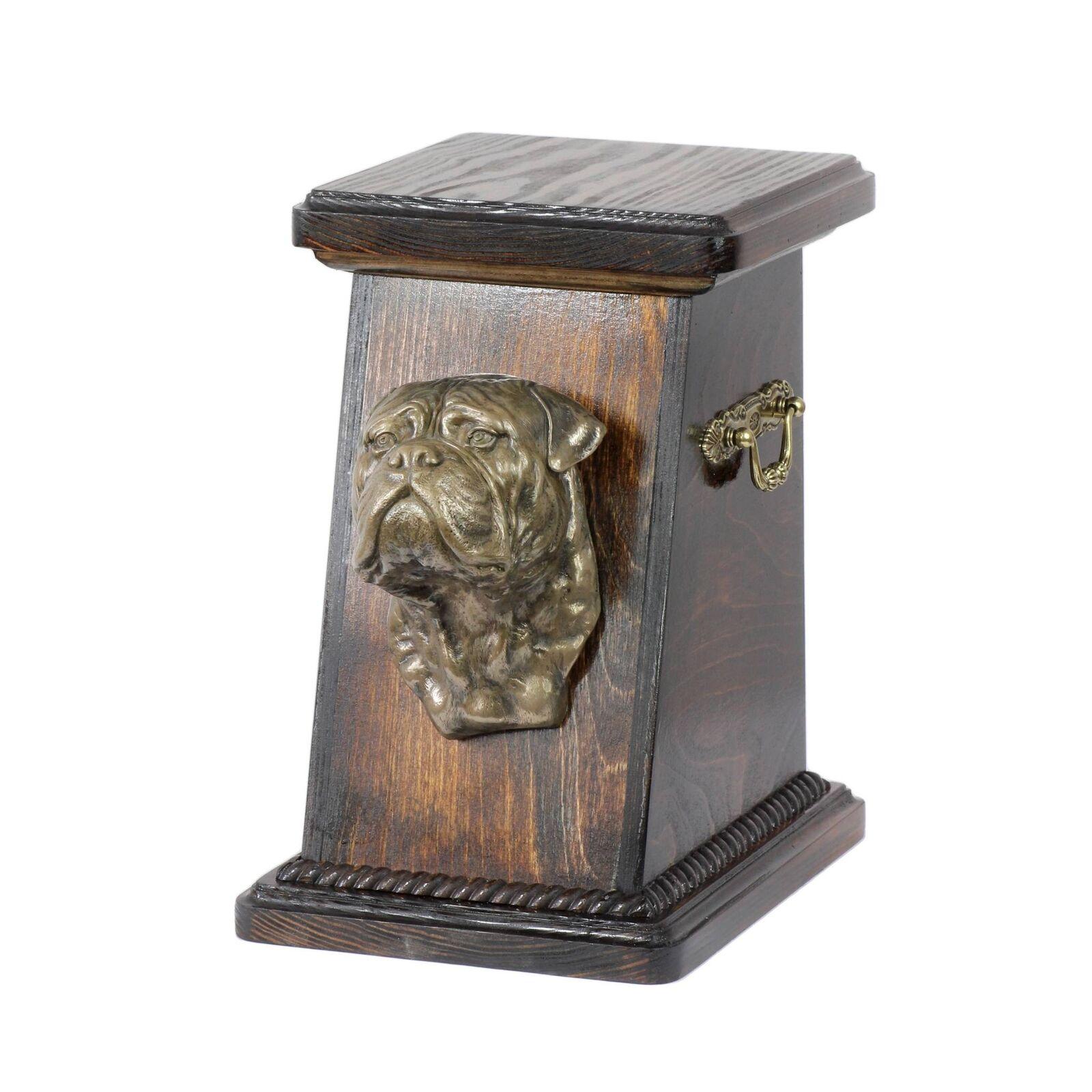Bullmastiff - urna di legno con l'immagine di un cane Art Dog IT Tipo 3