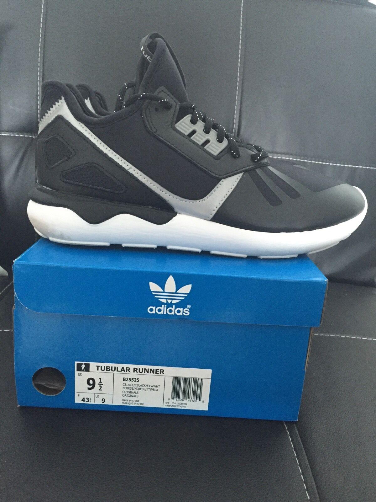 Adidas Originals Tubular Runner shoes Black White B25525 Boost