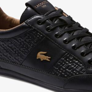 Lacoste-Chaymon-120-6-US-Mens-Casual-Black-Leather-Fashion-Shoes-39CMA0051-1V7