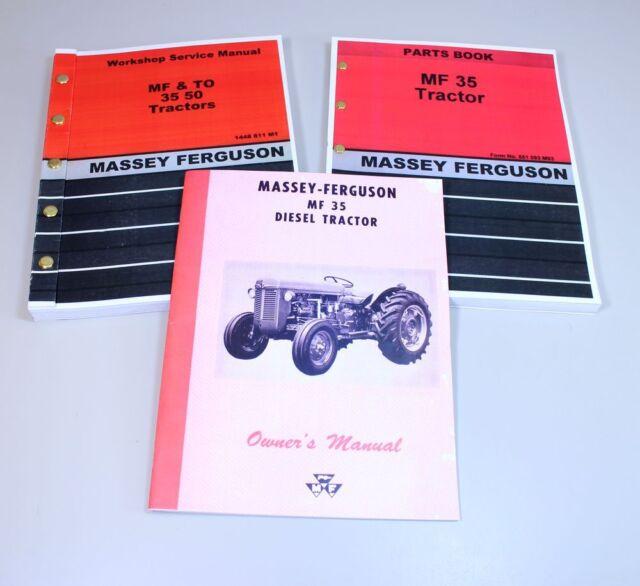 set massey ferguson to 35 tractor service operator parts manual rh ebay com massey ferguson 35 deluxe service manual massey ferguson 35 workshop service manual