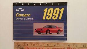 1991-CHEVROLET-Camaro-Original-Owner-039-s-Manual-Excellent-Condition
