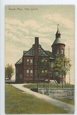 High School in WARREN MA Vintage Worcester county Massachusetts Postcard