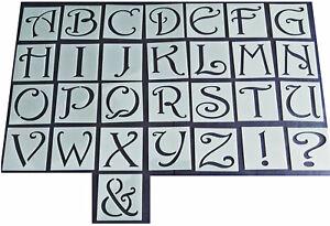 Shabby-Chic-Vintage-Letra-Del-Alfabeto-Stencil-45-37mm-Muebles-de-boda-mayusculas
