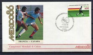 S13549) Mexico 1.6.1986 FDC Fifa Wc Football France Canada