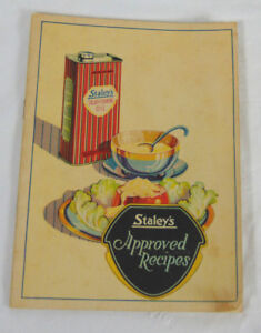 Staley-039-s-Approved-Recipes-Pamphlet-Staley-039-s-Products-From-Corn