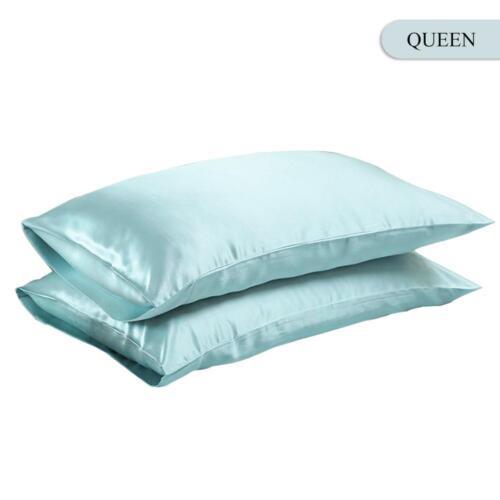 NEW Solid Queen//Standard Silk~y Satin Pillow Case Bedding Pillowcase Smooth Home