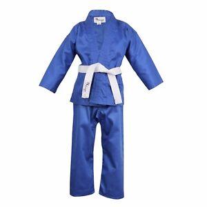 Blue Children's Karate Suit Free White Belt Kids Karate suit