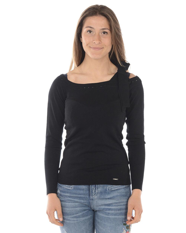 Maglia Maglietta Liu Jo Sweater Pullover Donna Nero M18029MA36A 2222 2222 2222 d6cfc9