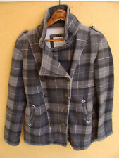 BILLABONG Cotton Blend Plaid Pea Coat Jacket Coat Size S Small