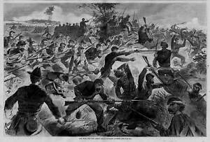 winslow homer 1862 engraving civil war for the union bayonet charge