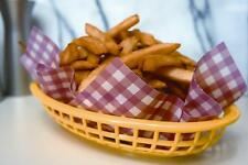 NEW Fox Run # 13201 French Fries Burger Fish Basket Liners Wraps - Red Gingham
