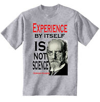 EDMUND HUSSERL EXPERIENCE QUOTE - NEW COTTON GREY TSHIRT