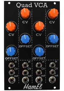 Quad VCA Analog Synth Module - Eurorack Vol. Contr. Amp // Hampshire Electronics