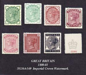 Queen Victoria 1880-81 Set 7 (Fälschungen)