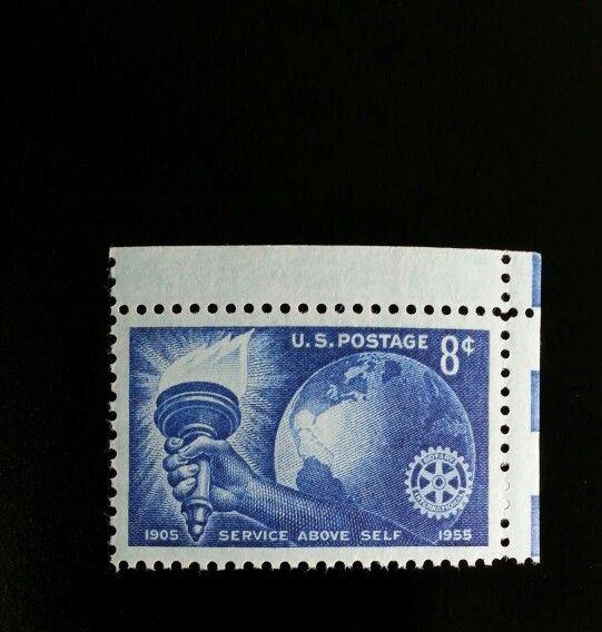 1955 8c Rotary International, 50th Anniversary Scott 10