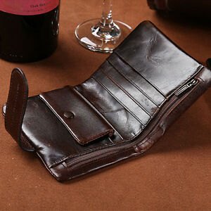 Men-039-s-Vintage-Genuine-Leather-Wallet-Card-Holder-Clutch-Coin-Slim-Purse-Pockets
