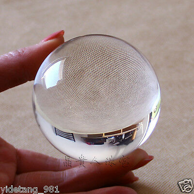 Asian Rare Natural Quartz Clear Magic Crystal Healing Ball Sphere 50mm+Stand