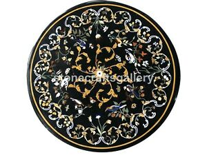 24-034-Marble-Top-Coffee-Table-Precious-Marquetry-Birds-Inlay-Art-Garden-Decor-B007