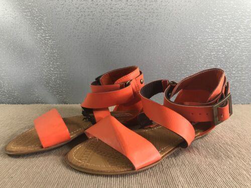 BNWT Ladies Older Girls Sz 6 Smart Orange Rivers Doghouse Strappy Buckle Sandals