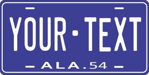 Alabama State Auto Car OR Motorcycle Custom Personalized License Plates