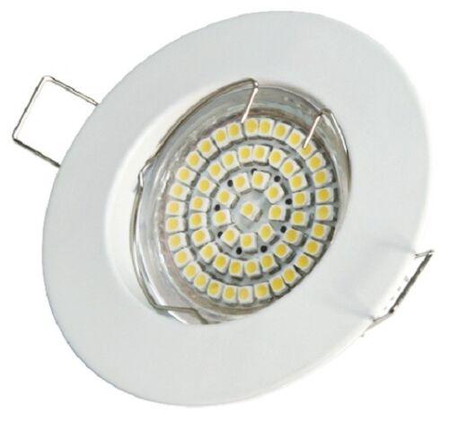 12x SMD LED Strahler Einbaustrahler Deckenstrahler Set rund weiß chrom-matt 55mm