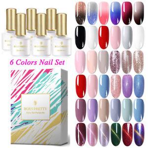 Nail-Gel-Polish-UV-LED-Soak-Off-6-Colors-Set-Starter-Kits-Gift-Box