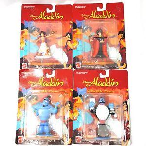 1992-Mattel-Disney-039-s-Aladdin-Jafar-Genie-PVC-Figures-Lot-of-4