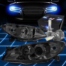 Fit 2004 2009 Mazda 3 Sedan 4dr Projector Headlights Withled Kit Slim Style Smoked Fits Mazda 3