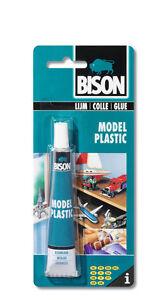 Bison Modelo Plástico Adhesivo TRANSPARENTE PEGAMENTO Craft Arte Hobby 25ml Impermeable  </span>