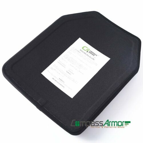 NIJ Level III STA Single Curve Hard Armor Plate 10X12 Inches Stand Alone UHMWPE