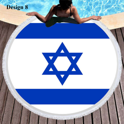 Australian Brazil Israel Germany US UK Union Jack Flag Swim Beach Towel Blanket