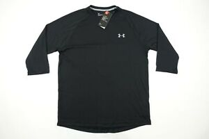 Under-Armour-Ua-1253535-Heatgear-Negro-XL-Manga-Media-Deportivo-Camiseta